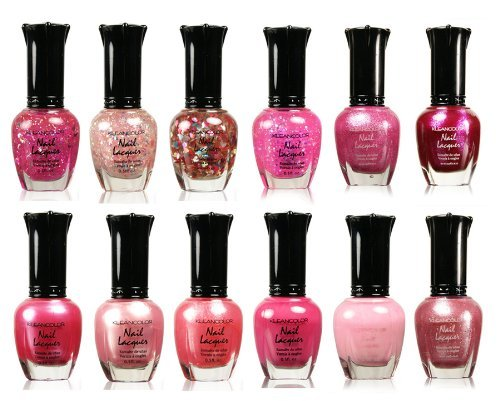 Awesome Pink Colors Assorted Nail Polish 12pc Set Kleancolor Collection Itacumo